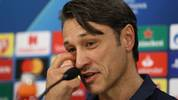 PIRAEUS, GREECE - OCTOBER 21: Niko Kovac, head coach of FC Bayern Muenchen talks to the media during a press conference at Karaiskakis Stadium on October 21, 2019 in Piraeus, Greece. FC Bayern Muenchen will face Olympiacos FC during the UEFA Champions League group B match on October 22, 2019. (Photo by Alexander Hassenstein/Bongarts/Getty Images)