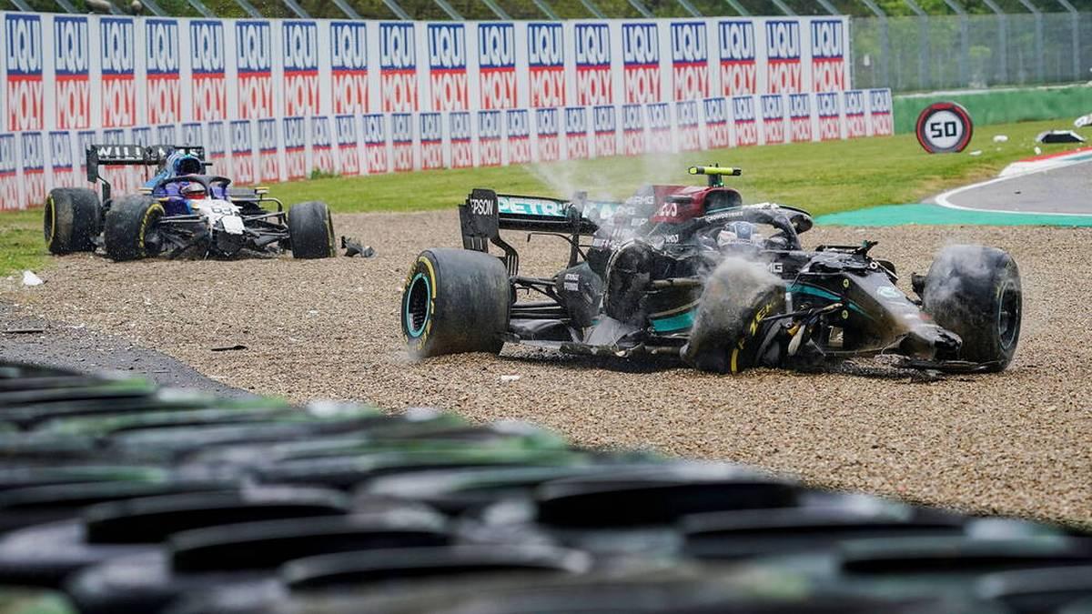 Lewis Hamilton hat in Imola ein komplettes Mercedes-Debakel verhindert. Max Verstappen siegt, Bottas und Russell fetzen sich nach einem Crash.