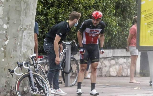 John Degenkolb stürzte auf der 1. Etappe der Tour