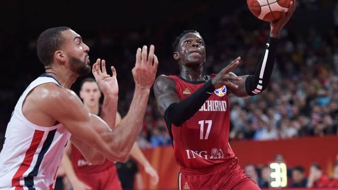 Dennis Schröder bei der Basketball-WM gegen Frankreich