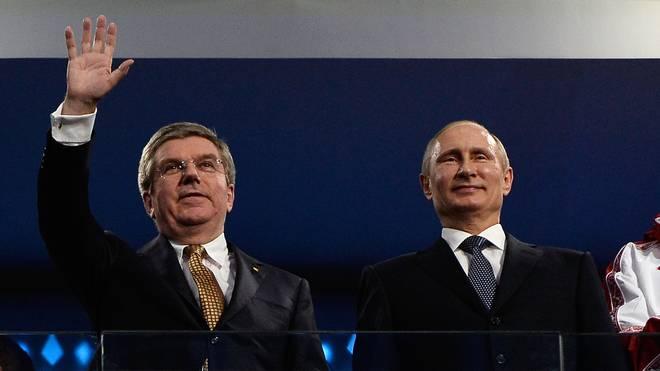 Thomas Bach und Wladimir Putin