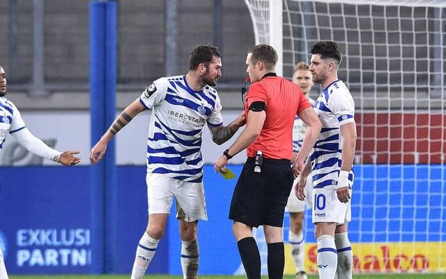Der MSV Duisburg kassierte gegen Saarbrücken gleich zwei Platzverweise