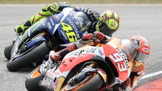 Valentino Rossi und Marc Marquez bekämpfen sich in Sepang
