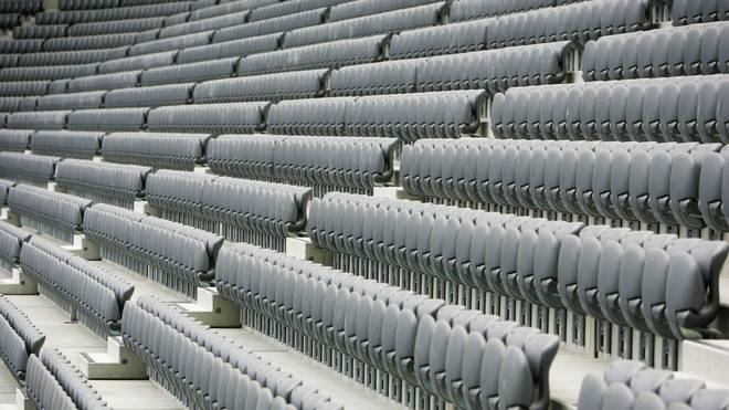 MUNICH, GERMANY - APRIL 18: A general view of empty seats are seen in the Allianz Arena on April 18, 2005 in Munich, Germany. The Allianz Arena will be the future home stadium of soccer clubs FC Bayern Munich and TSV 1860 Munich and will also host the opening game of the FIFA World Cup 2006 Germany Championships. The stadium is scheduled for completion by June, 2005. (Photo by Sandra Behne/Bongarts/Getty Images)