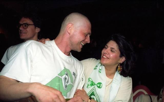 Uli Borowka mit Glatze und der Frau von Stefan Kohn