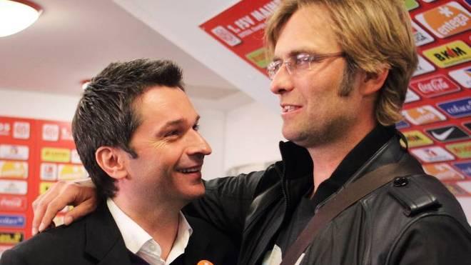 Manager CHRISTIAN HEIDEL (Mainz), Trainer JUERGEN KLOPP (BVB) 1. FSV MAINZ 05-BORUSSIA DORTMUND