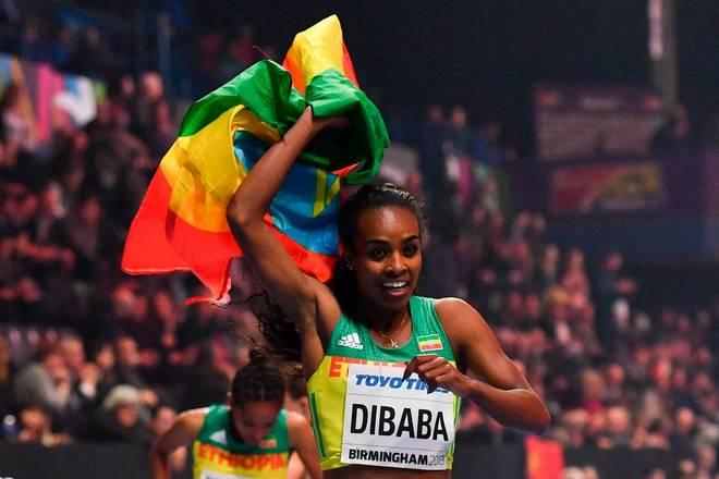 Genzebe Dibaba aus Äthiopien hält seit 2015 den Weltrekord über die 1500 Meter bei den Damen