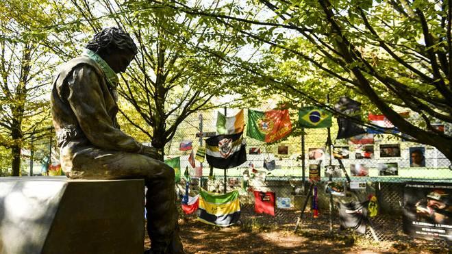 Formel 1 Unfälle: Das Denkmal für Ayrton Senna in Imola.