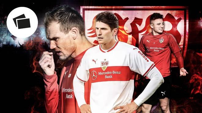 Holger Badstuber und Mario Gomez vom VfB Stuttgart