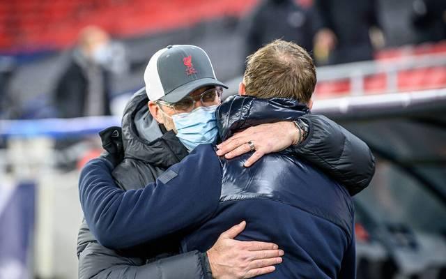 Jürgen Klopp und Julian Nagelsmann treffen wohl auch im Rückspiel in Budapest aufeinander.