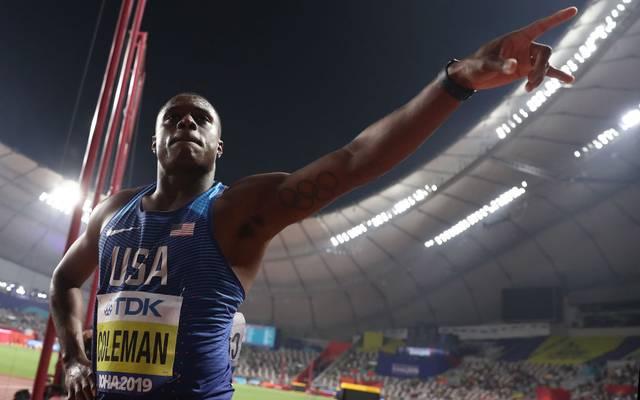 Christian Coleman wird beim 200-Meter-Rennen nicht antreten