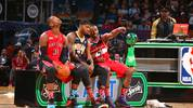 Slam Dunk Contest Terrence Ross, Paul George und John Wall
