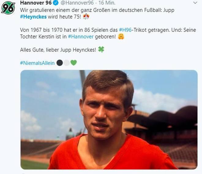 Hannover 96 denkt an den Geburtstag ihres ehemaligen Spielers