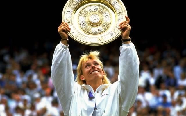 Mit neuen Triumphen in Wimbledon ist Martina Navratilova die alleinige Rekordhalterin