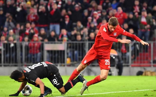 Thomas Müller und der FC Bayern stolperten gegen Bayer Leverkusen