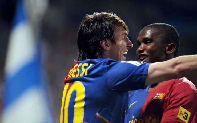 Lionel Messi und Samuel Eto'o in einer Mannschaft - das war fast schon unfair