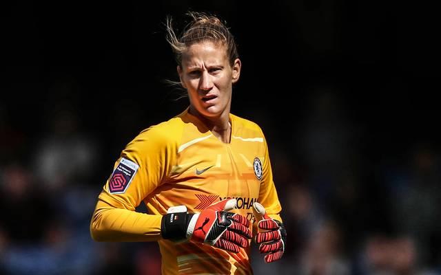 Ann-Katrin Berger steht seit 2019 für den FC Chelsea zwischen den Pfosten