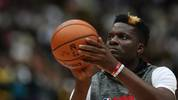 SAITAMA, JAPAN - OCTOBER 10: Clint Capela #15 of Houston Rockets warms up prior to the preseason game between Toronto Raptors and Houston Rockets at Saitama Super Arena on October 10, 2019 in Saitama, Japan. NOTE TO USER: User expressly acknowledges and agrees that, by downloading and/or using this photograph, user is consenting to the terms and conditions of the Getty Images License Agreement. (Photo by Takashi Aoyama/Getty Images)