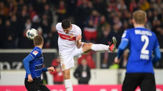 Mario Gómez erzielte in der Partie gegen Bielefeld den Führungstreffer für den VfB Stuttgart