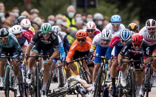 Pascal Ackermann hat den Sieg bei der neunten Etappe knappe verpasst