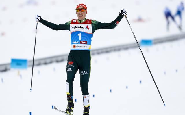 Eric Frenzel genoss seinen Triumph in vollen Zügen