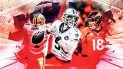 Brett Favre, Drew Brees und Peyton Manning gehören zu den besten Quarterbacks der NFL-Geschichte