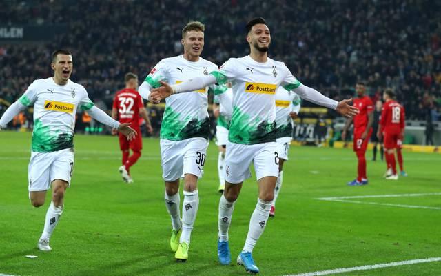 Ramy Bensebaini schoss Mönchengladbach zum Sieg gegen Bayern