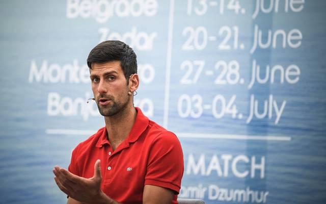 Novak Djokovic spricht über die Maßnahmen für die US Open