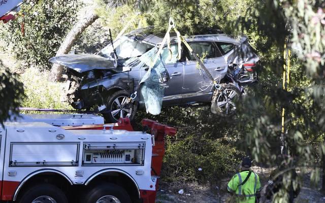 Nur noch Schrottwert: Der SUV von Golf-Superstar Tiger Woods nach dem schweren Unfall