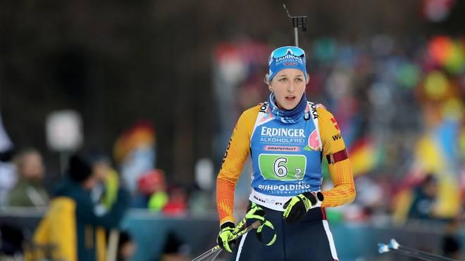 Franziska Preuß setzte bei der Single-Mixed-Staffel zu viele Schüsse daneben