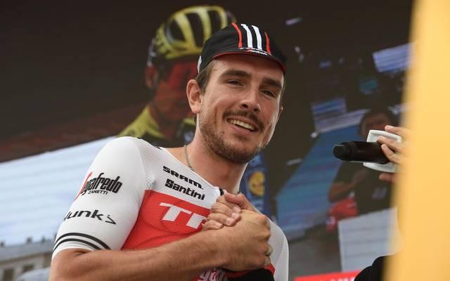 John Degenkolb feiert seinen ersten Etappensieg für das Team Lotto-Soudal