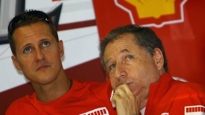 Jean Todt (r.) ist ein enger Freund von Michael Schumacher