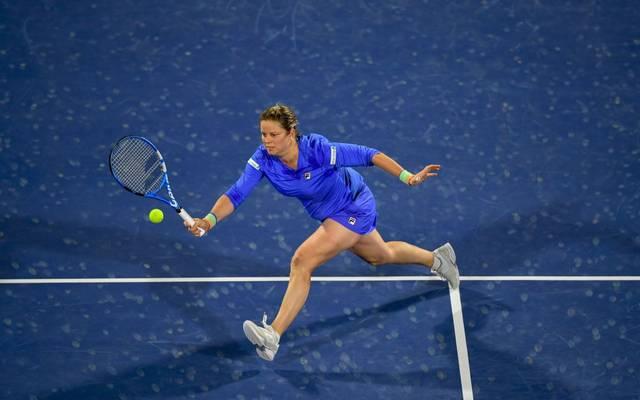 Kim Clijsters zeigte gegen Garbine Muguruza eine starke Leistung