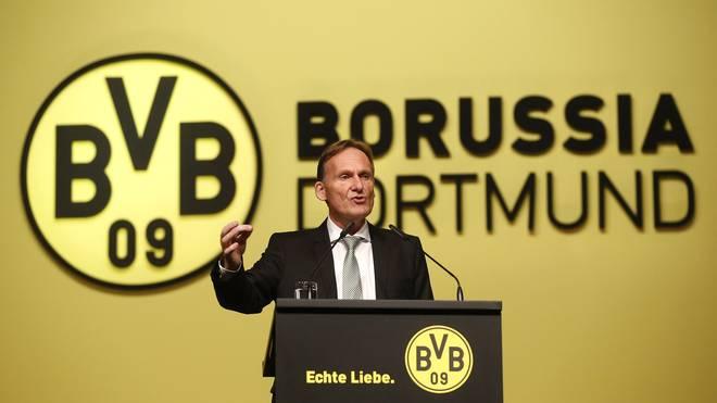 Geschäftsführer Hans-Joachim Watzke bei der Aktionärsversammlung des BVB