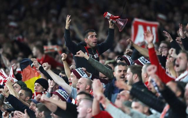 Köln-Fans beim FC Arsenal