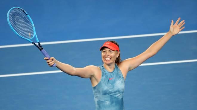 Maria Sharapova steht erstmals nach Ablauf ihrer Dopingsperre im Achtelfinale der Australian Open