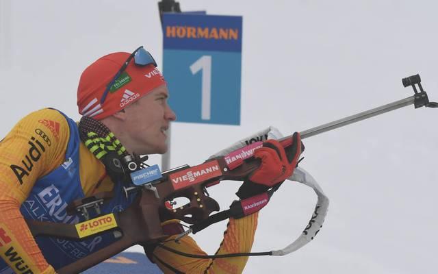 Für Benedikt Doll lief es beim Biathlon-Weltcup in Antholz beim Schießen alles andere als rund