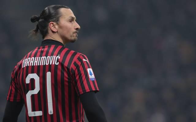 Zlatan Ibrahimovic spielt seit Januar 2020 bei AC Mailand