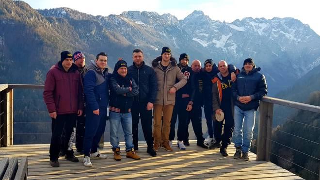 Das Team um Vincent Feigenbutz im Trainingslager in Slowenien