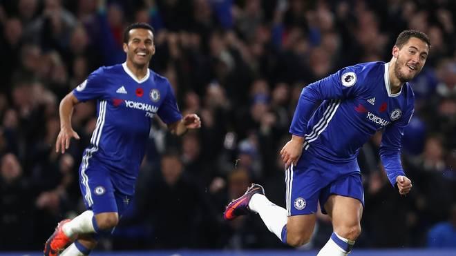 Eden Hazard bejubelt seinen Treffer gegen Everton