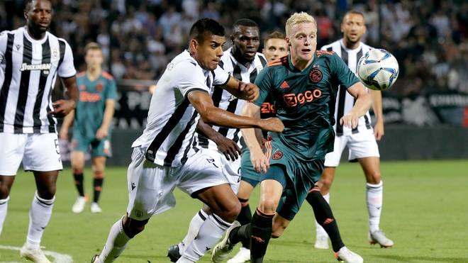 Donny van de Beek und Ajax Amsterdam erreichten bei PAOK Saloniki nur ein Remis
