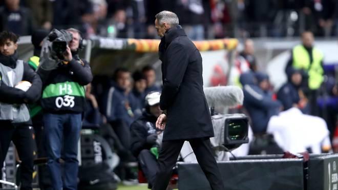 Adi Hütter wurde am Donnerstag vom Schiedsrichter auf die Tribüne verwiesen