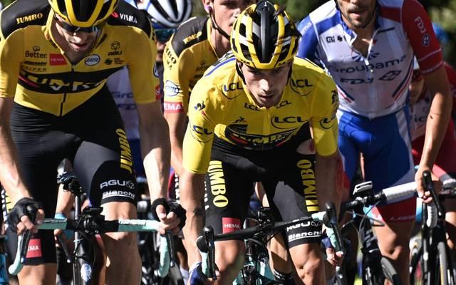 Primoz Roglic war vor seinem Ausstieg bei der Dauphiné Gesamtführender
