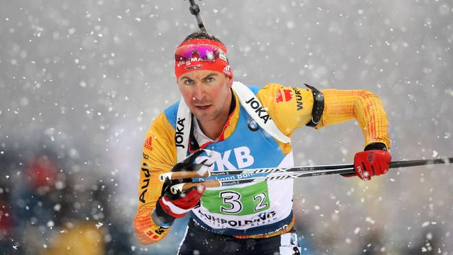 RUHPOLDING, GERMANY - JANUARY 18: Philipp Nawrath of Germany competes during the Men 4x7.5 km Relay Competition at the BMW IBU World Cup Biathlon Ruhpolding on January 18, 2020 in Ruhpolding, Germany. (Photo by Alexander Hassenstein/Bongarts/Getty Images)