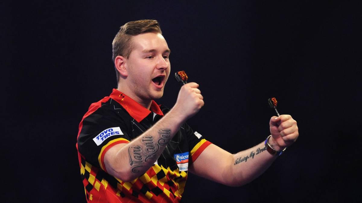 Dimitri Van den Bergh hat beim Grand Slam of Darts einen neuen Average-Rekord aufgestellt