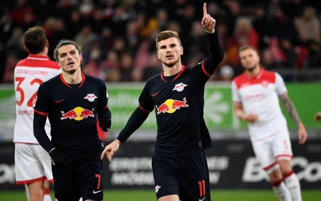 Timo Werner steht mit Leipzig an der Spitze der Bundesliga-Tabelle