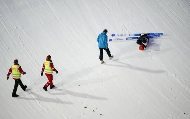 Stephan Leyhe  stürzte bei der Quali in Trondheim schwer
