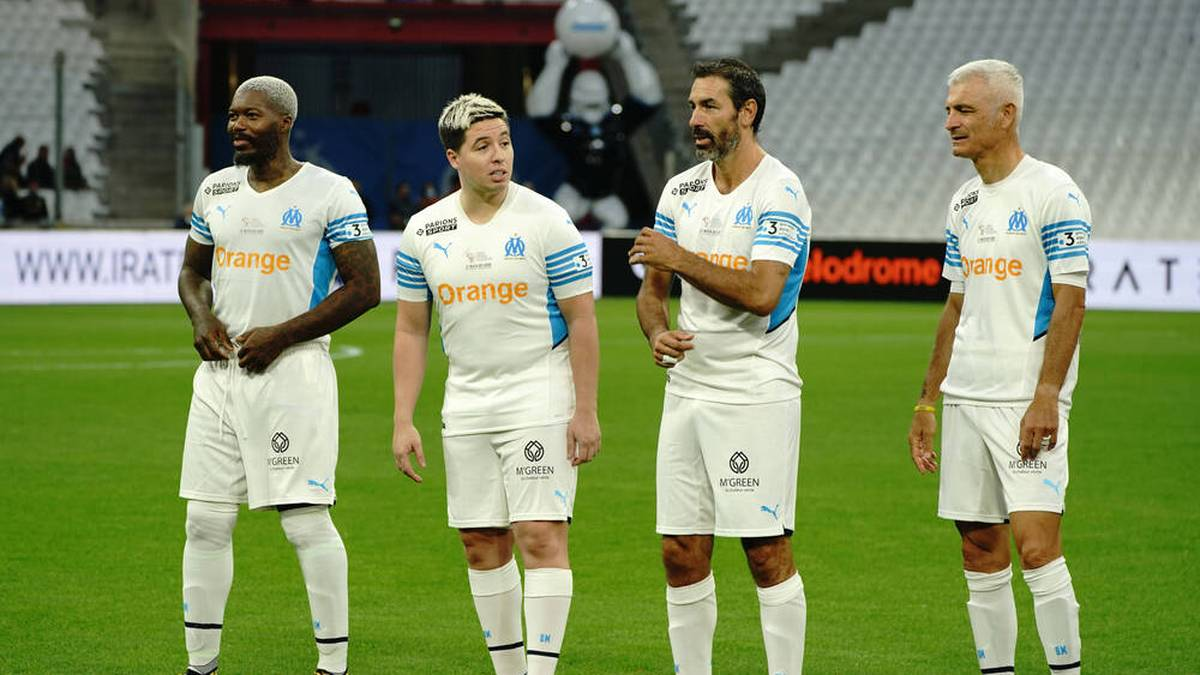 Von links nach rechts: Djibril Cisse, Samir Nasri, Robert Pires, Fabrizio Ravanelli