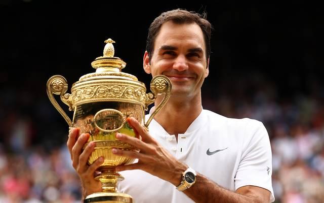 Mit acht Siege ist Roger Federer der Rekordtitelträger in Wimbledon