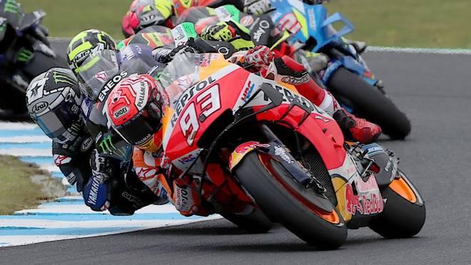 MotoGP-Weltmeister Marc Márquez (#93) war auch in Australien nicht zu schlagen